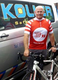 Andy's bike challenge to fight bowel cancer